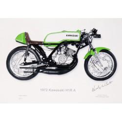 Hurley Wilvert Kawasaki H1R-A Signed