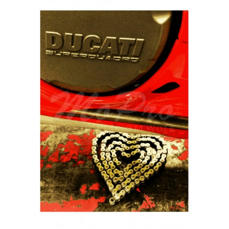 Ducati Love with Chain in Shape of Heart
