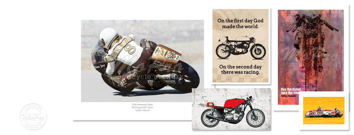 MoPro Motorcycle Artwork Collage